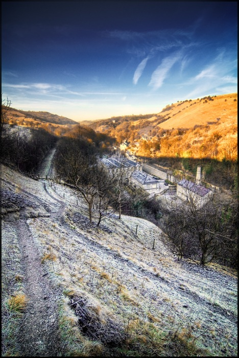 photoblog image Frost at Litton Mill